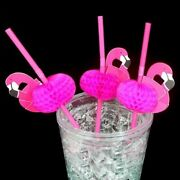 Bendable Flamingo Straw 50pcs Wedding Party Supplies Cocktail Drinking Accessory