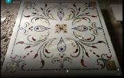 36 Square Marble Dining Table Top Multi Marquetry Inlaid Home Decoratives E511