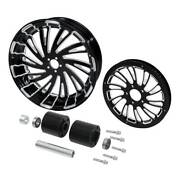 18and039and039 Rear Wheel Rim Hubs Belt Pulley Sprocket Fit For Harley Touring 08-up
