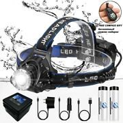 Zoomable Headlight Waterproof Bright Camping Headlamp Fishing Led Black T6 New