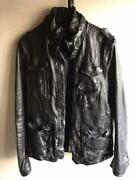 Used Neil Barrett Buffalo Leather Riders Jacket Mens Xs Size With Garment Case