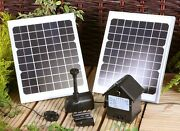Water Pump For Water Feature Fountain Pond Pool Solar Powered Battery Garden