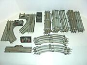 Lionel Big Track Lot With Switches And Remote Track Section 0/27 Postwar Vintage
