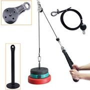 Fitness Pulley Cable System Diy Loading Pin Lifting Triceps Rope Machine Workout