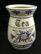 1950s Royal Sealy Japan Heritage Blue Onion Tea Canister - No Lid