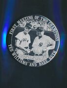 Ted Williams And Babe Ruth First Meeting 3 1/2 Pin Button P138
