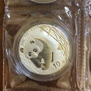 China 2001 1 Oz 10 Yuan Silver Bu Panda - Original Mint Double Sealed.