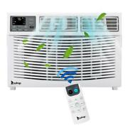 10000btu Window-mounted Air Conditioner Led Display Remote Control Timer White