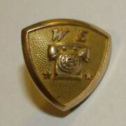 Vintage Western Electric Telephones 10kt Gold Employee Pin 1.8g 10k - Style 1
