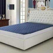 Polyester Home Care Waterproof King Size Mattress Protector King Size Blue