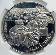 1969 Tunisia History Saint Augustine Vintage Proof Silver Dinar Coin Ngc I89288