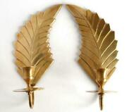 Antique Brass Wall Candlesticks 2 Wings Hanging Candle Holder Germany Decorative