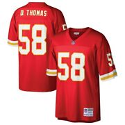 Kansas City Chiefs Derrick Thomas 58 Mitchell And Ness Menand039s Red Legacy Jersey