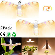E27 Led Grow Light Bulb With Foldable Full Spectrum Grow Lights For Indoor Plant