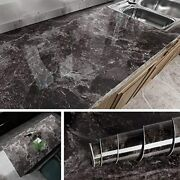 Livelynine Marble Contact Paper For Countertops Kitchen Countertop 15.8x78.8 In