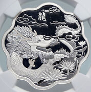 2012 Canada Lotus Year Of Dragon Chinese Zodiac Proof Silver 15 Coin Ngc I89329