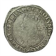 Charles Ii Hammered Silver Halfcrown Mm Crown S3321