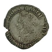 Charles Ii Hammered Silver Shilling Mm Crown S3322