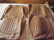 New Jaguar Mk2 Mk Ii Front Seat Leather Cover And Trim Kit Complete- Cinnamon