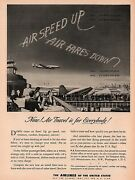 1946 E Airlines Of The United States Wright Art Airport Print Ad