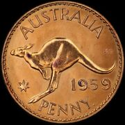 1959 Perth Proof Penny About Fdc