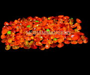 Natural Ethiopian 5x7 Mm Oval Faceted Orange Opal Aaa Fire Opal Loose Gemstone