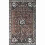 4and0398x8and0392 Semi Antique Deep Red Farsian Sheeraz Hand Knotted Wool Rug R60592
