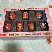 One Piece Tony Tony Chopper Shot Glass Set Japanese Anime Excellent From Japan