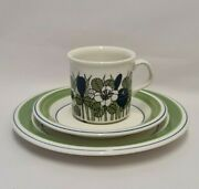 Esteri Tomula Color Krokus Mocca Cup And Saucer And Cake Plate Arabia Finland