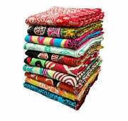 Lot Of Handmade Vintage Kantha Quilts Bedding, Bedspread Blankets Cotton Fabric