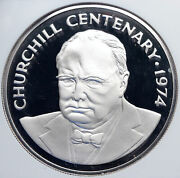 1974 Cayman Islands 100 Years Winston Churchill Proof Silver 25 Coin Ngc I89301