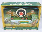 Vintage Jungle Eyes Shooting Gallery Ohio Art Mechanical Wind-up Toy 573 W/box