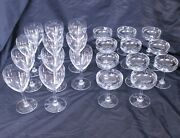 Baccarat Chambolle Tall Water Goblets And Champagne / Tall Sherbet 11 Of Each