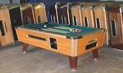 7and039 Valley Coin-op Pool Table Model Zd7 W/ Green Cloth Also Avail In 6 1/2and039 8and039