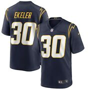 Los Angeles Chargers Austin Ekeler 30 Nike Men's Official Nfl Game Jersey