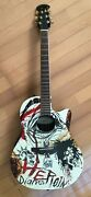 Ovation Celebrity Ns28 Nikki Sixx Heroin Diaries Acoustic Guitar Limited
