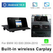 8-core Android 10 Car Gps Multimedia Screen Wireless Carplay For Bmw X3 E83 2004