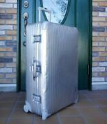 Rimowa Classic Flight 104 L 2 Wheeled Suit Travel Trunk Case Silver Used