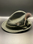Traditional German Switzerland Tyrolean Hat With 5 Travel Pins