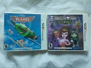 Nintendo 3ds Video Game System Lot Monster High 13 Wishes And Disney Planes