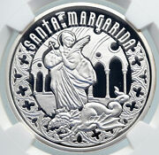 2011 Andorra Saint Margaret Slays Dragon Proof Silver 10 Diners Coin Ngc I89349