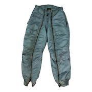 U.s. Air Force Green Zip Up Jogger Puffer Pants Trousers