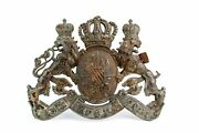 Wwi German Imperial Helmet Badge 1910s Antique Army Coat Of Arms Somme Battle