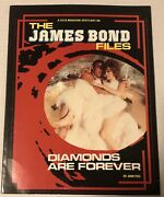 The James Bond Files Diamonds Are Forever Magazine 1986 Sean Connery