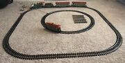 Bachmann Holiday Special Train And Trolley Set 90054 G Scale 40' Track Santa