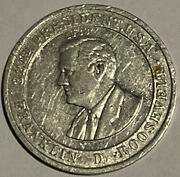 Vintage Cracker Jack Franklin Roosevelt New Deal Mystery Club Coin Campaign Rare