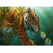 Tiger Swimming Underwater Diamond Painting Cool Design Embroidery House Displays