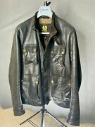 Belstaff Brad Leather Jacket Antique Black/brown Xl