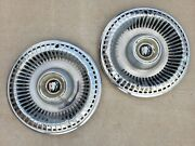 Vintage 1965 Buick Lasabre 15 Hubcap Wheelcover Center Cap Pair Free Shipping