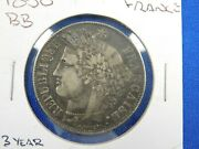 1850 A France 5 Francs - Big Silver - 3 Year Type Coin